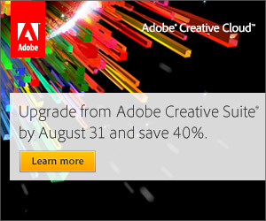 Creative Cloud August 2012 offer